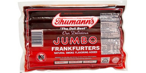 Thumann's Jumbo Pork and Beef  Franks